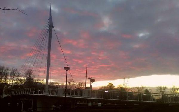 Mooie zonsopgang boven Rijswijk