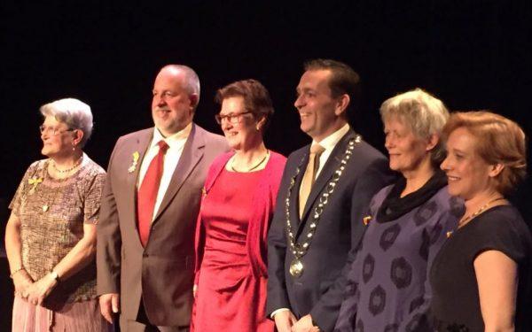 Uitreiking van koninklijke onderscheidingen in Rijswijk