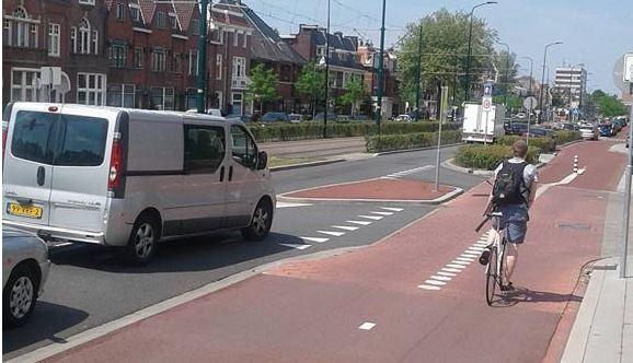 Regelmatig ongelukken met fietsers bij oprit Hoornbrug