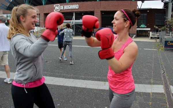 Kickboxing op het Bogaardplein