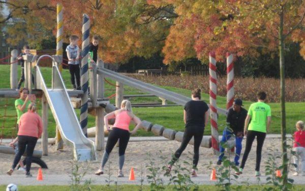 Sportieve bewoners in Park Endezant